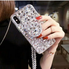 For Iphone 11 Pro Max XS 7 8+Luxury Bling Diamond Crystal Stand Strap phone Case