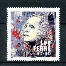 France 2016 MNH Leo Ferre Birth Cent 1v Set Composers Poets Music Stamps