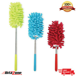 Cleaning Brush Telescopic Handle Magic Microfiber Feather Duster Extendable