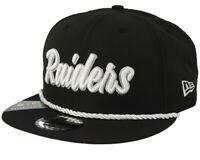 OAKLAND RAIDERS  New Era On Field 19 9Fifty 1960 Snapback Hat Adjustable Black
