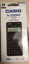 Fx 350ms Non Programmable Scientific Calculator M02 2 Line Display Hard Case