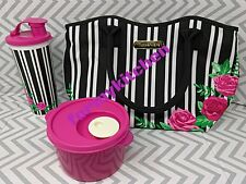 Tupperware Women's Insulates Lunch Bag/Tumbler/Crystalwave Soup Mug Set  New!!