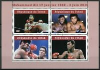 Chad 2019 CTO Muhammad Ali 4v M/S I Famous People Boxing Sports Stamps