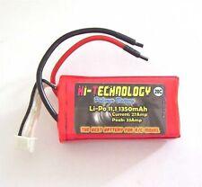 Batteria LiPo da 11,1v 3S 1350mAh 20C per Modellismo Softair  66 x 20,5 x 35mm
