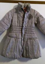Winterjacke Mädchen Pampolina Gr. 116-128 silbergrau superwarm wie neu