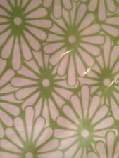 Ikea Ransby 3pc Full/Queen Size Quilt Duvet Cover Set Green Flowers