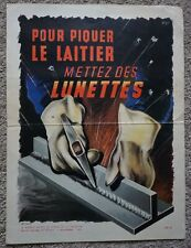 Vintage French Industrial Factory Health & Safety Art Poster