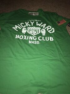 ROOTS OF FIGHT BOXING MICKY WARD GREEN T-SHIRT XXL 2XL