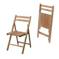 Wood Folding Chair Wooden Natural Finish Patio Garden Simple Furniture LFS-355NA