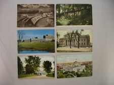 6 VINTAGE POSTCARDS ASSORTED VIEWS AROUND COLUMBUS OHIO MOST USED