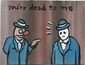 N. Scott Carroll You're dead to me Ghost Guy Skull folk pop lowbrow art painting