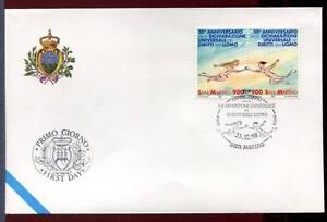 "32786) SAN MARINO 1998 FDC ""Uff. San Marino"" Human Rights"