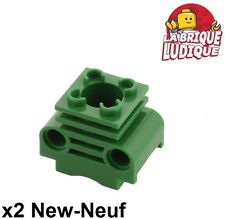 Lego technic - 2x cylindre moteur Engine Cylinder vert/green 2850b NEUF