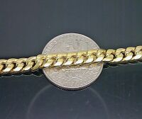 "10k Yellow Gold Miami Cuban Link Chain Necklace 6.2 mm 22"" Box Lock available"
