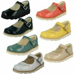 Clarks Girls Cut Out Detailed Shoes - Crown Jump
