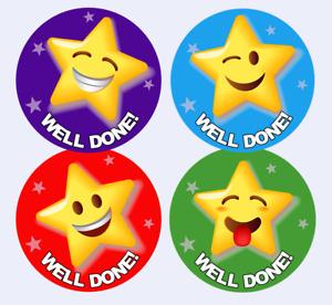 168 Well Done School Reward Stickers For Kids Children Teacher Award, 30mm Size
