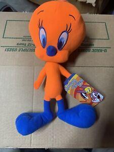 WB Looney Tunes  Plush Neon Orange Tweety Bird Stuffed Animal Toy Factory
