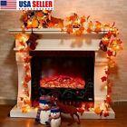 9.8/19ft Fall Thanksgiving Maple Leaves 30 LED Light Lamp Garland Festival Decor
