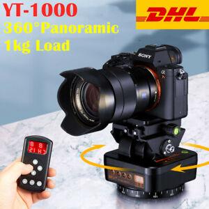 AU ZIFON YT1000 Remote 360° Panoramic Rotating Tripod Head For Gopro DSLR Phone
