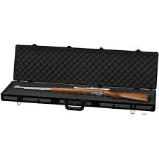 "Black 44"" Rifle Shotgun Aluminum Protection Case, Padded Lock Carry Storage Safe"