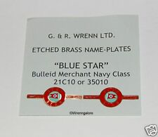WRENN Brass model railway BLUE STAR name plates &crests