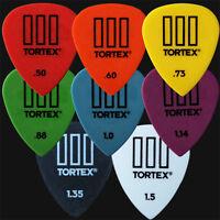 8 x Dunlop Tortex III Guitar Picks Plectrums Tortex TIII - 1 Of Each Type