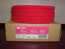 "3M 17"" Red 5100 Buffer Pads Box of  5 pads"