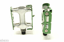 Wellgo Green Ano 164g Light Flat Cage Road/Mountain Bike Bicycle Pedals