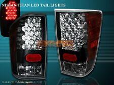 FIT FOR 04-08 09 10 11 12 TITAN LE XE SE LED TAIL LIGHTS REAR TRUNK JDM BLACK