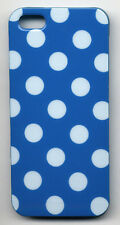 iPhone SE iPhone 5 5S Case Cover - Polka Dot - White on Dark Blue