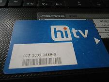 HITV satellite viewing card .