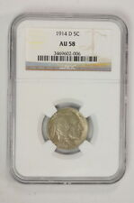 1914 D .05 Cent United States Buffalo Nickel NGC Certified Coin