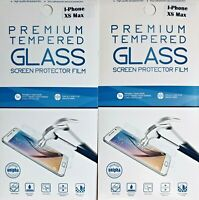 2-Pack OEM PREMIUM Tempered Glass Screen Protector FILM Apple iPhone XS Max 6.5""