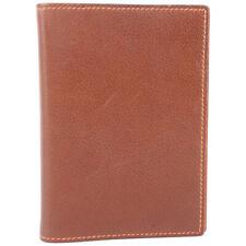 HERMES agenda Notebook cover Brown/Orange leather unisex