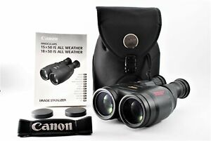 [Near MINT] Canon 18x50 IS UD 3.7° All Weather Binoculars Image Stabilizer JAPAN