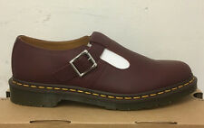 DR. MARTENS POLLEY CHERRY RED VIRGINIA   LEATHER  SHOES SIZE UK 9