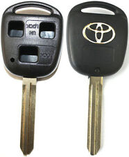 New Remote Key Keyless Replacement Case 3 Button Shell For Toyota