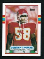 DERRICK THOMAS 1989 TOPPS TRADED ROOKIE RC #90  FOOTBALL HOF CHIEFS