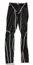 Speedo Fastskin Legskin Black White Competition Swimsuit Mens 30