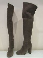 AUTOGRAPH MOSS GREEN SUEDE OVER KNEE PULL ON BOOTS UK 3 (3239)