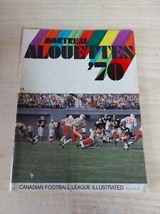 Vintage CFL Illustrated Football Magazine Vol 1 #8 Montreal Alouettes Used