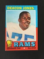 1971 Topps Set Break #209 Deacon Jones HOF Los Angeles Rams EX-EXMINT Condition