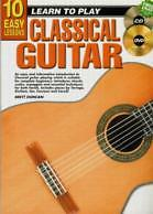 10 EASY LESSONS Classical Guitar Book + CD & DVD