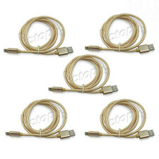 10ft Gold Lightning Charging Cable iPhone X 8 7 6 5 Plus USB Heavy Duty 5 Piece