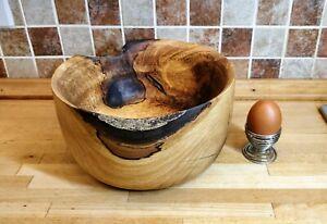 Hand Turned Walnut Live Edge Wooden Bowl, Wooden Art, Handmade Gift