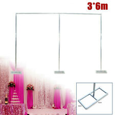 Wedding Party Decor Stainless steel Backdrop Stand Pipe Kit 3x6m Curtain Frame