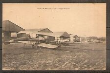 CARTE POSTALE CPA POSTCARD AVIATION GUERRE CAMP DE MAILLY CHAMP AVIATION 1918