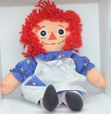 """MINT Vintage American Cloth Raggedy Ann Doll By Playskool 1987  12"""" 70101"""