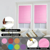 Self-adhesive Pleated Blinds Curtains Half Shades Window Curtain For Door 76