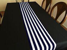 "Zen Creative Designs 13"" x 108"" Striped Table Top Runner Navy"